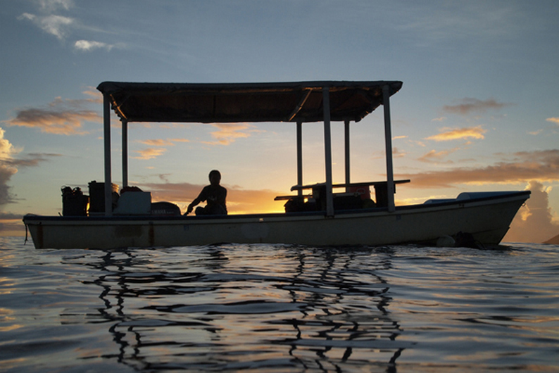 Kosrae - Sunset on the Water-s